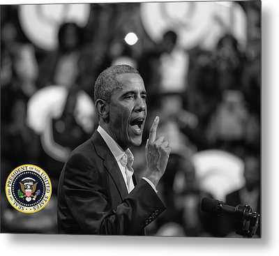 President Barack Obama Metal Print by Jerome Lynch