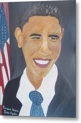 President  Barack Obama Metal Print by John Onyeka