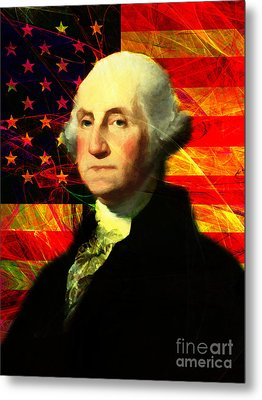 President George Washington V2 M20 Metal Print by Wingsdomain Art and Photography