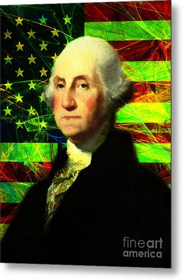 President George Washington V2 P50 Metal Print by Wingsdomain Art and Photography
