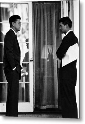 President John Kennedy And Robert Kennedy Metal Print