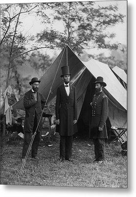 President Lincoln At Antietam Metal Print by Alexander Gardner