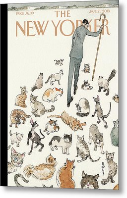 President Obama Attempts To Herd Cats Metal Print by Barry Blitt