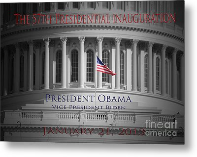 President Obama Inauguration Metal Print by Jost Houk