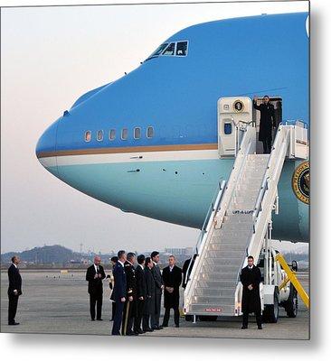 President Obama, Osan Air Base, Korea Metal Print by Science Source