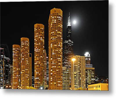 Presidential Towers Chicago Metal Print by Christine Till