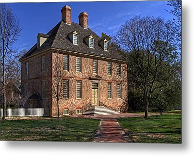 Metal Print featuring the photograph President's House College Of William And Mary by Jerry Gammon