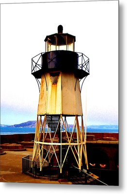 Presidio Lighthouse Metal Print by Sharon Costa