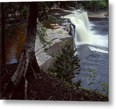 Presque Isle Falls Metal Print by Tim Hawkins