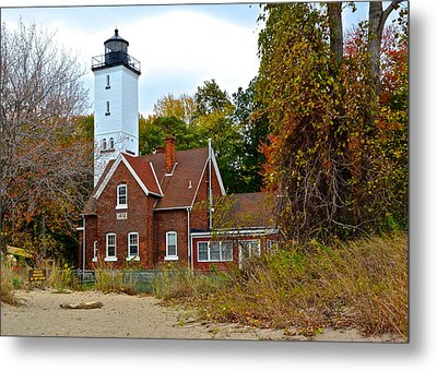 Presque Isle Lighthouse Metal Print by Frozen in Time Fine Art Photography