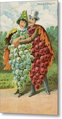 Pressed Grapes Metal Print by Aged Pixel