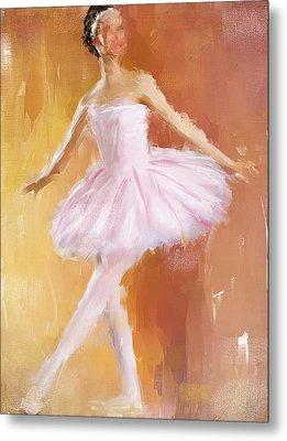 Pretty Ballerina Metal Print by Lourry Legarde
