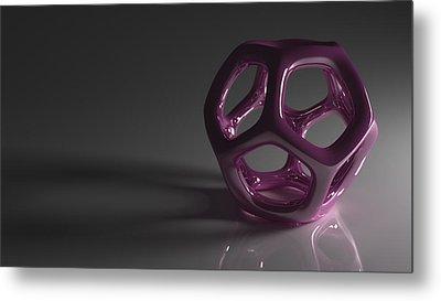 Pretty In Purple Metal Print by Troy Harris