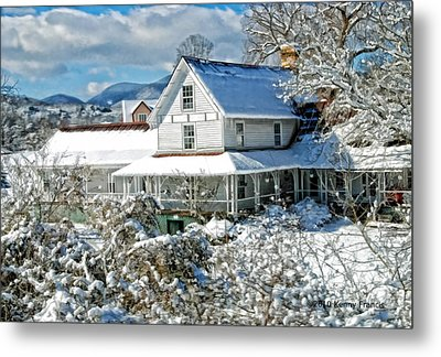 Pretty In White Metal Print by Kenny Francis