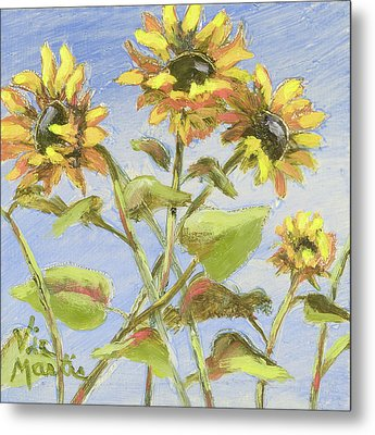 Metal Print featuring the painting Pretty In Yellow II by Vic  Mastis