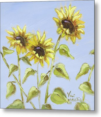 Metal Print featuring the painting Pretty In Yellow by Vic  Mastis