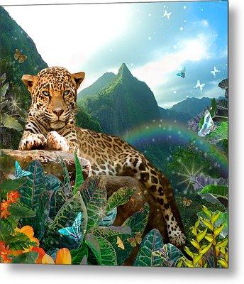 Pretty Jaguar Metal Print