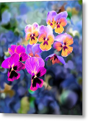 Pretty Pansies 3 Metal Print