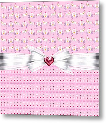 Pretty Pink Princess Metal Print