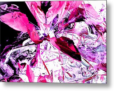 Metal Print featuring the photograph Pretty Pink Weeds 5 by Marianne Dow