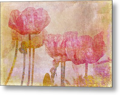 Pretty Poppy Garden Metal Print