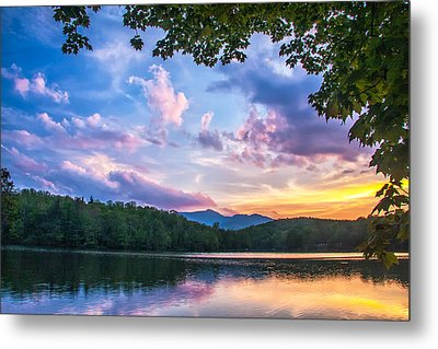 Price Lake Sunset Metal Print