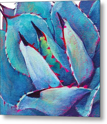 Prickly 3 Metal Print by Athena  Mantle