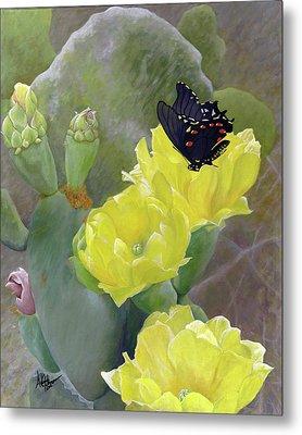 Prickly Pear Flower Metal Print