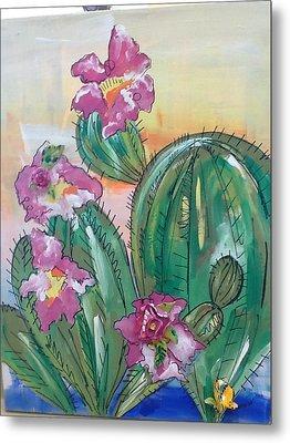 Prickly Pear Metal Print by Karen Carnow