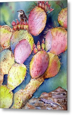 Prickly Perch Metal Print by Patricia Pushaw