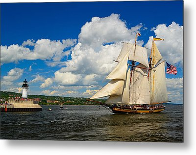 Metal Print featuring the photograph Pride Of Baltimore II by Gregory Israelson