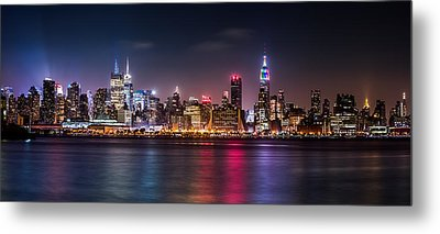Pride Weekend Panorama Metal Print by Mihai Andritoiu