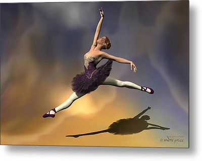 Prima Ballerina Georgia Grand Jete Pose Metal Print by Andre Price