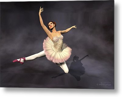Prima Ballerina Heaven Jete Leap Pose Metal Print by Andre Price