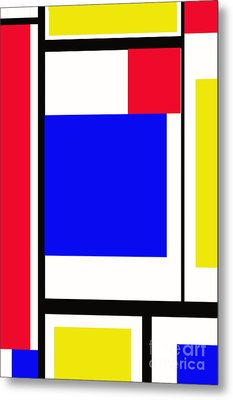 Primary Abstract Motivational Metal Print by Tom Gari Gallery-Three-Photography