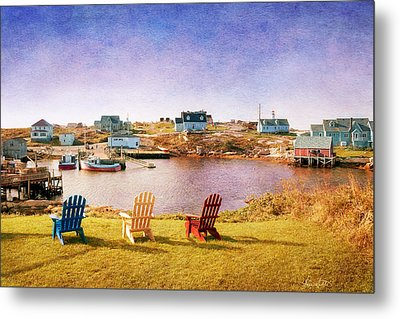 Primary Chairs - Digital Art Metal Print by Renee Sullivan