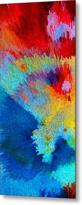 Primary Joy - Abstract Art By Sharon Cummings Metal Print by Sharon Cummings