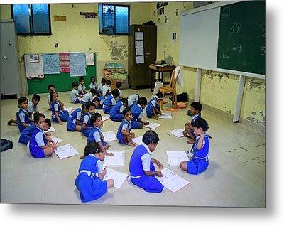 Primary School In Mumbai Metal Print
