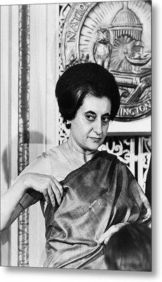 Prime Minister Indira Gandhi Metal Print by Warren Leffler