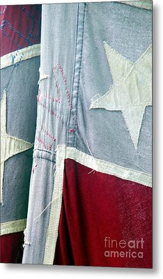 Metal Print featuring the photograph Primitive Flag by Valerie Reeves