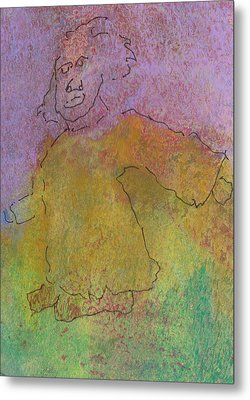 Metal Print featuring the mixed media Primitive Giant by Catherine Redmayne