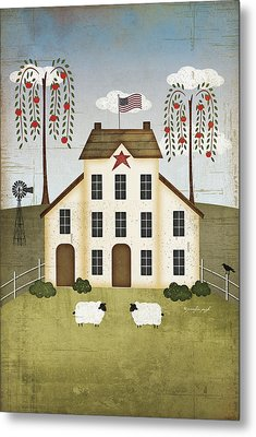 Primitive House Metal Print by Jennifer Pugh