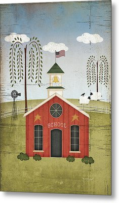 Primitive School Metal Print by Jennifer Pugh