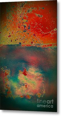 Metal Print featuring the painting Primordial by Jacqueline McReynolds