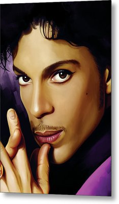 Prince Artwork Metal Print by Sheraz A