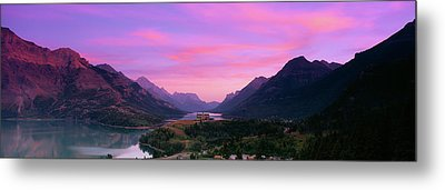 Prince Of Wales Hotel In Waterton Lakes Metal Print by Panoramic Images