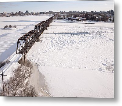 Prince Of Wales Railway Bridge, Ottawa Metal Print