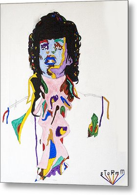 Metal Print featuring the painting Prince Purple Reign by Stormm Bradshaw