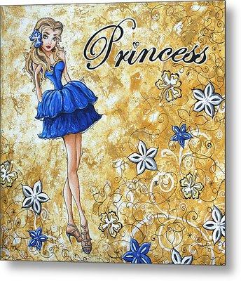 Princess By Madart Metal Print by Megan Duncanson