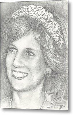 Princess Diana Metal Print by Hae Kim